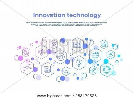 Innovation Line Concept. Laboratory Research, Creative Technology Invention Abstract Business Concep