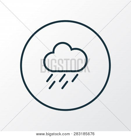 Rainstorm Icon Line Symbol. Premium Quality Isolated Drizzle Element In Trendy Style.