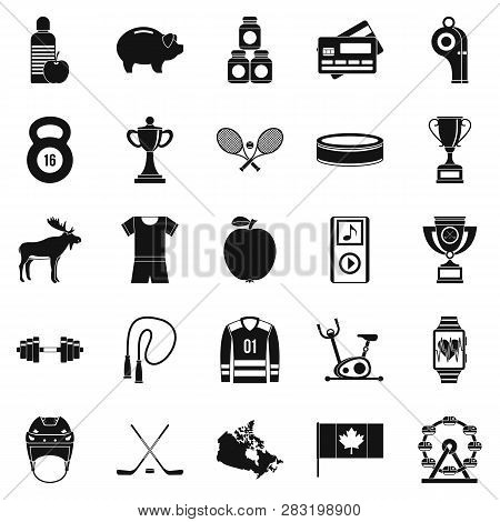 Sports Uniform Icons Set. Simple Set Of 25 Sports Uniform Icons For Web Isolated On White Background