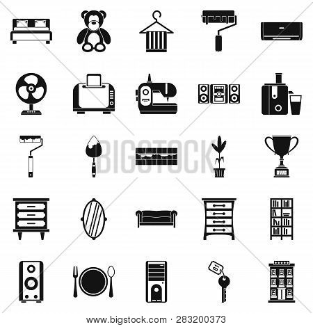 Dwelling Place Icons Set. Simple Set Of 25 Dwelling Place Icons For Web Isolated On White Background