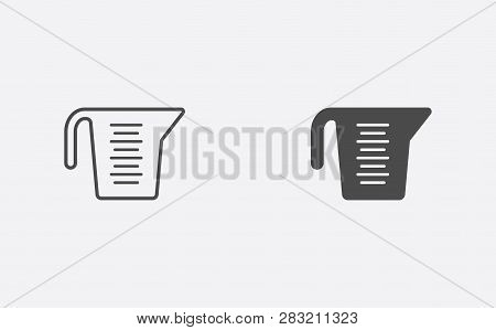Measuring Cup Icon Vector, Filled Flat Sign, Solid Pictogram Isolated On White. Symbol, Logo Illustr