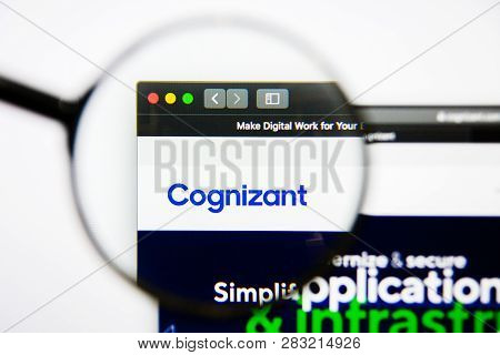 Los Angeles, California, Usa - 25 January 2019: Cognizant Website Homepage. Cognizant Logo Visible O