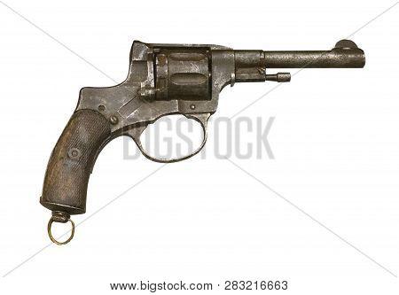 Gun Isolated On White Background. Gun From World War Ii.mauser Yurkovtsev Pistol