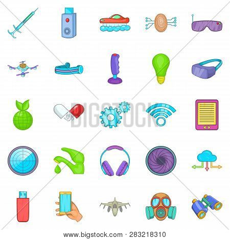 Achievement Icons Set. Cartoon Set Of 25 Achievement Icons For Web Isolated On White Background