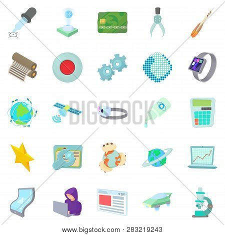 Novelty Icons Set. Cartoon Set Of 25 Novelty Icons For Web Isolated On White Background