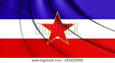 3d Flag Of Sfr Yugoslavia. 3d Illustration.