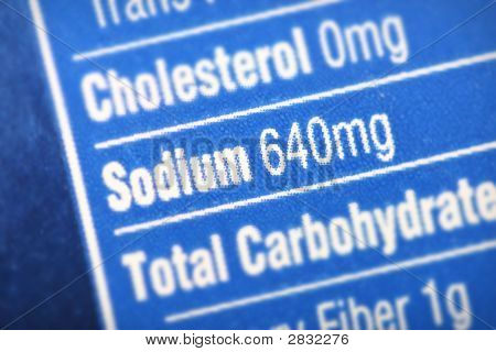 High In Sodium