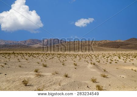 Desert Landscape In Death Valley, California, Usa