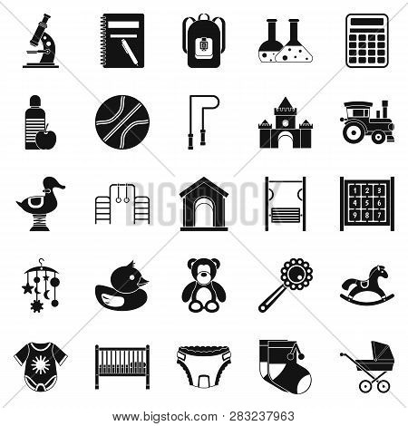 Scholar Icons Set. Simple Set Of 25 Scholar Icons For Web Isolated On White Background