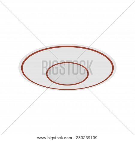 Saucer. Little Plate. Beakfast, Dishware. Vector Illustration. Eps 10.