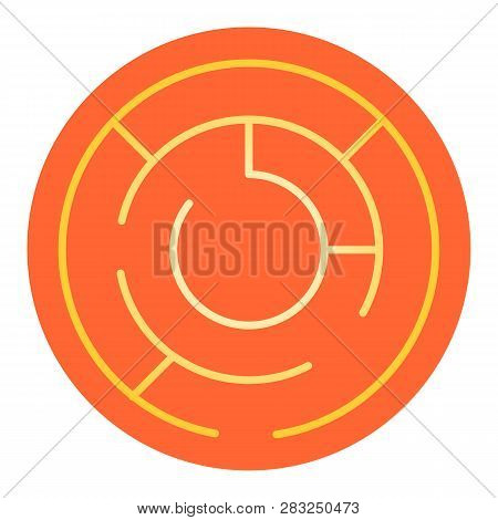 Round Labyrinth Flat Icon. Circle Maze Color Icons In Trendy Flat Style. Intricacy Gradient Style De