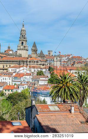 Santiago De Compostela Cityscape, Spain