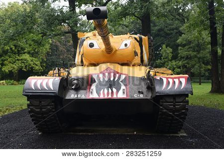 M46 Patton Tank On Display At The First Division Museum, Cantigny Park, Wheaton, Il September 1, 201
