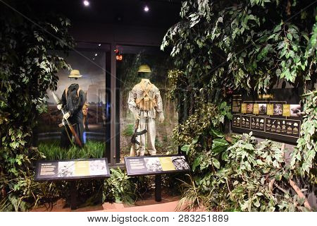 Vietnam War Exhibit On Display Inside At The First Division Museum, Cantigny Park, Wheaton, Il Septe