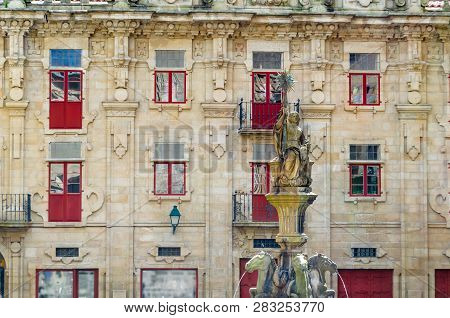 Fountain In Santiago De Compostela, Spain