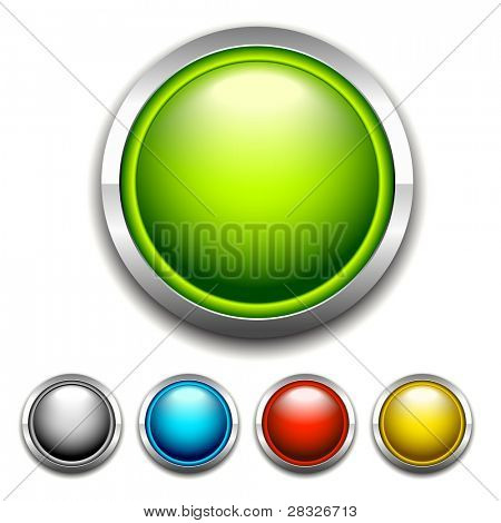 Set of buttons. Vector Illustration
