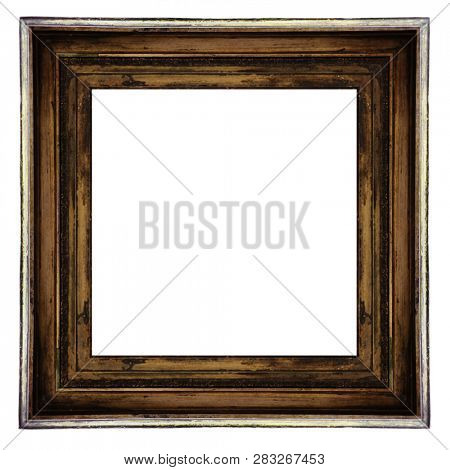 antique classical frame isolated on white background