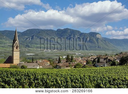 Famous Wine Village Of Tramin An Der Weinstrasse In South Tirol,trentino,italy