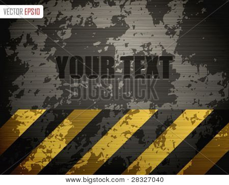 Grunge metal template design. Vector Illustration