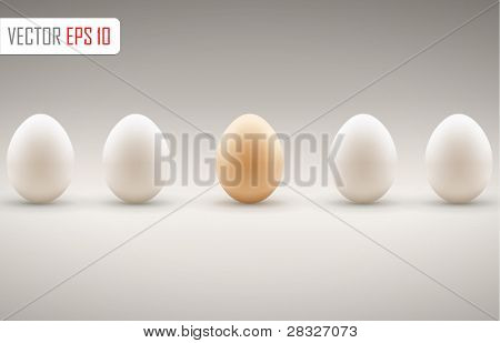 Brown egg concept. Vector illustration