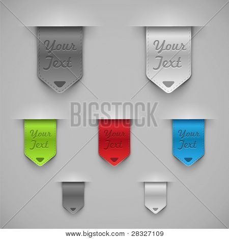 Bookmarks. Vector illustration
