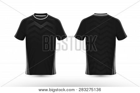Black And White Layout E-sport T-shirt Design Template