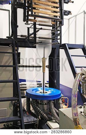 Blown film extrusion plastic bag making machine poster