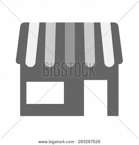 Store Symbol Vector Icon. Simple Filled Store Vector Icon On Background