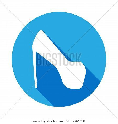 Platform Shoes Icon With Long Shadow. Signs And Symbols Can Be Used For Web, Logo, Mobile App, Ui, U
