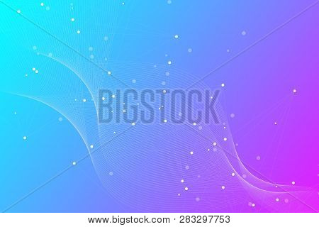 Futuristic Abstract Vector Background Blockchain Technology. Deep Web Background. Peer To Peer Netwo