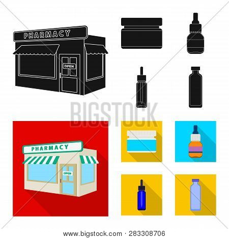 Vector Illustration Of Retail And Healthcare Sign. Collection Of Retail And Wellness Stock Vector Il
