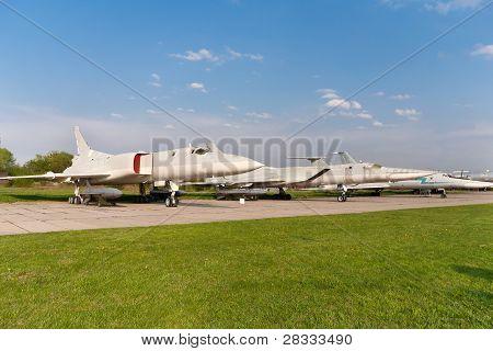 Several Tupolev Tu-22 Planes