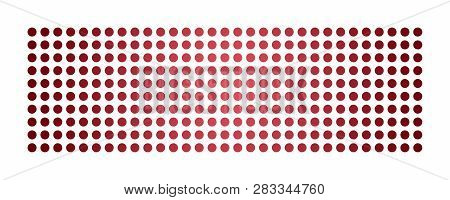 Abstract Powerful Dot Panorama Background Design Illustration