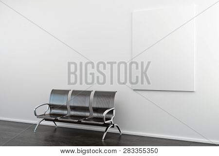Empty Banner And Bench