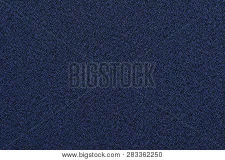 Indigo Rough Granular Fabric Texture Uniform Over The Entire Surface