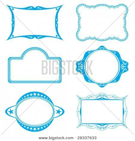 Collection of different frames for background or labels