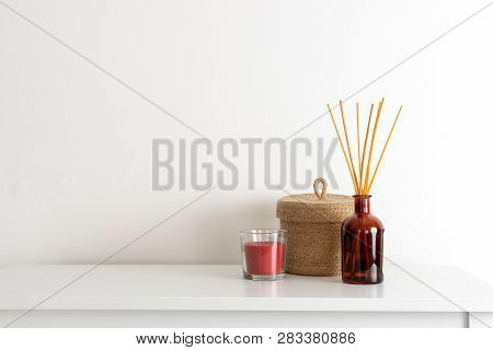 Minimal Composition, Scandinavian Nordic Hygge Style, Home Interior - Candle, Scent Aroma Diffuser,