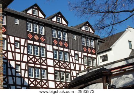 Old Timber Buildings In Rudesschein, Germany
