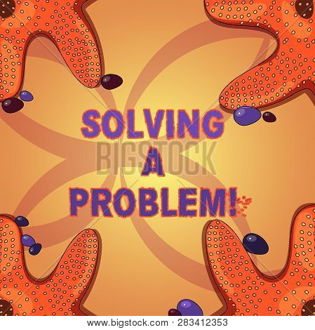 Writing Note Showing Solving A Problem. Business Photo Showcasing Include Mathematical Or Systematic