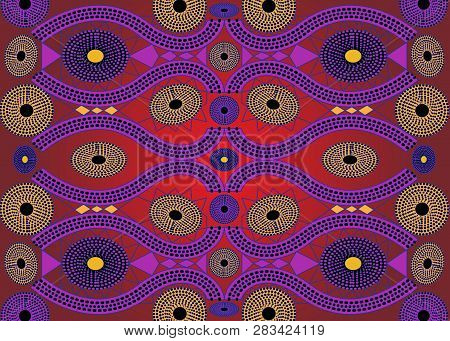 African Print Fabric, Ethnic Handmade Ornament For Your Design, Ethnic And Tribal Motifs Geometric E