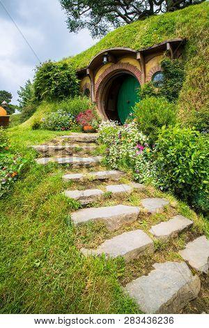 Hobbiton Movie Set For