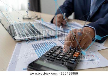 Finance Documents Digital Graph Finance With Social Network Diagram Financing Accounting