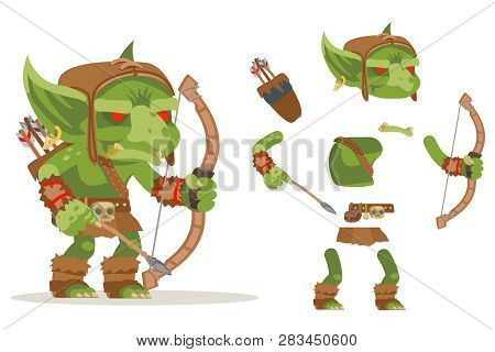 Archer Goblin Dungeon Monster Evil Minion Fantasy Medieval Action Rpg Game Character Layered Animati