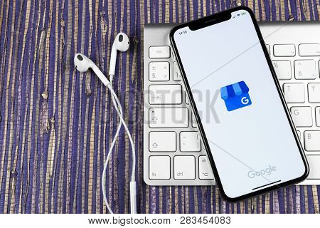 Sankt-petersburg, Russia, February 10, 2019: Google My Business Application Icon On Apple Iphone X S