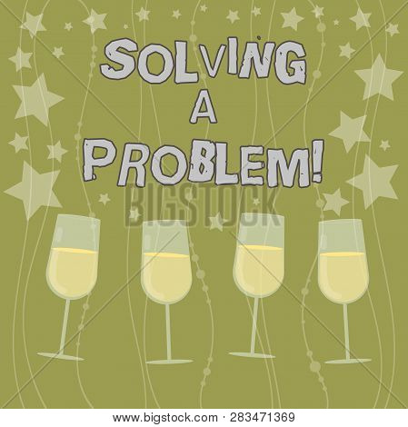 Text Sign Showing Solving A Problem. Conceptual Photo Include Mathematical Or Systematic Operation F