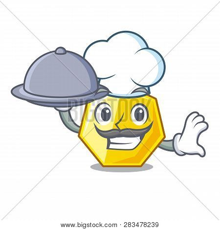 Chef With Food Heptagon Sticks In The Character Wall