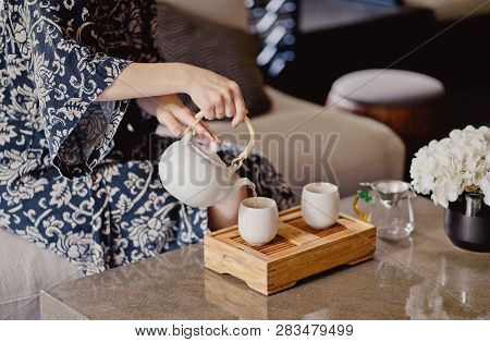 Chinese Tea Ceremony. Room Chinese Tea Ceremony