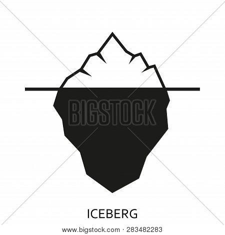 Iceberg Icon Isolated On White Background. Ice Berg Emblem Or Label. Vector Illustration.