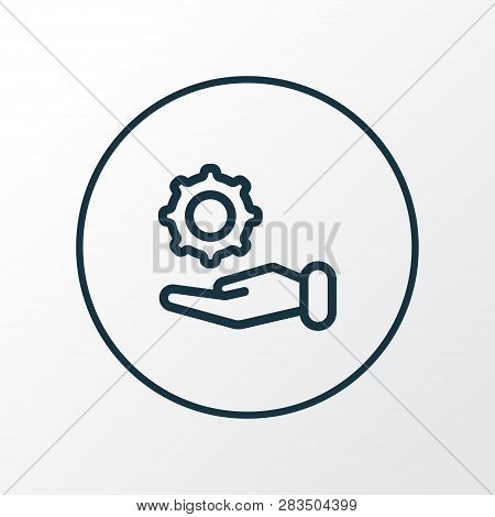 Offer icon line symbol. Premium quality isolated configuration element in trendy style. poster