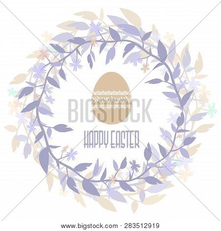 Easter Vector Composition. Isolated From The Background. Eps 10